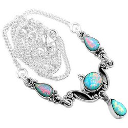 Fire Opal Furnished Necklaces