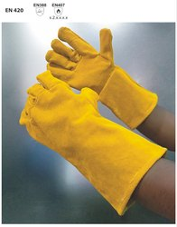 WSYCL/35 Welder Gloves With Yellow Split Leather
