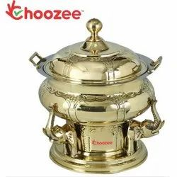 Copper and Brass Chafing Dish (Capacity 8 LTS)