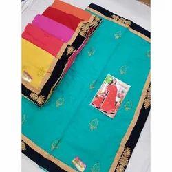 Banarasi Silk Embroidered Saree with Blouse Piece, Length: 6.3 m