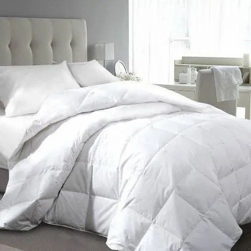 Plain White Bed Comforter Set