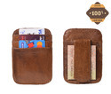 Leather Money Card Holder Money Clipper
