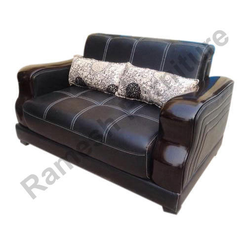 3 Seater Black Modern Sofa