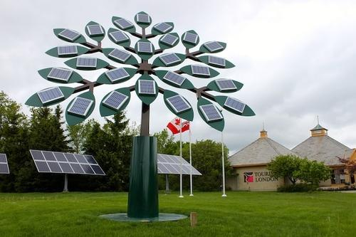 Solar tree at rs 120000 kw solar roof top on grid system urja solar tree sciox Image collections