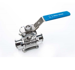 Stainless Steel 3 Piece Ball Valve, Size: 15 Mm To 300 Mm