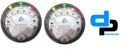 Aerosense Model ASG-02 - Differential Pressure Gauge Range 0-2.0 Inch WC