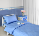 ... Cotton/polyester Blend Hospital Bed Sheet, Size: 60