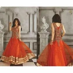 Semi-Stitched Ladies Net Gown, Occasion: Party