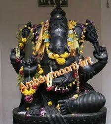 Jaipur Black Stone Ganesh Statue