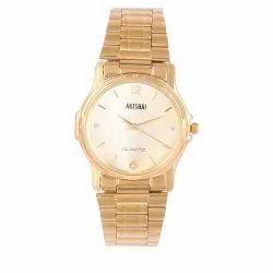 Artshai Golden Wrist Watch for Men, Warranty: 1 Year