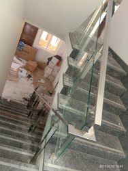 SSM43 Stainless Steel Glass Stair Railing