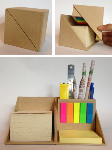Gifts For Organizers >> Handmade Paper Desktop Organizers