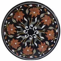 Marble Inlaid Pietra Dura Dining Table Top
