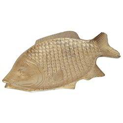 White Metal Fish Tray