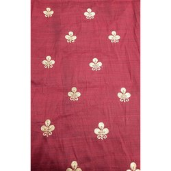 Red Jacquard Blouse Fabric