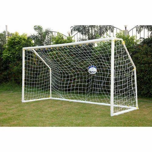 White Football Goal Post Pvc Premium Size 12 Ft X 6 Ft Rs