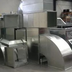 GI Pre Fabricated Exhaust Duct for Factory