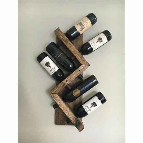Wall Mount Wine Bottle Rack