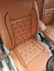 Tan Pu Leather 3D Car Seat Cover
