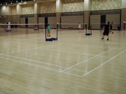 Maple Wood Badminton Court Flooring