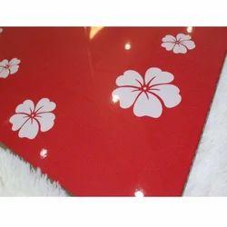 White Flower Laminated Board