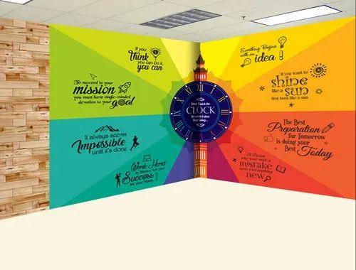 Multicolor Vinyl Sticker Wall Advertising Posters, For Interior Design, Multi Colour Pritnign