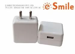 5V/2.4 Amp Wall Charger With Single USB, Model Number: EB5C0524A