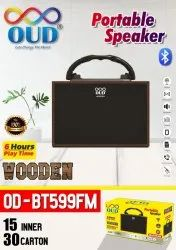 OUD Dark Brown OD BT599FM Portable Speaker, 12 W