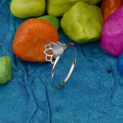 925 Sterling Silver Natural Rainbow Gemstone Crown Ring