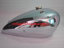 New Imperial 1936, Model 100 350cc Chrome Gas Fuel Petrol Tank With Brass Cap And Tap