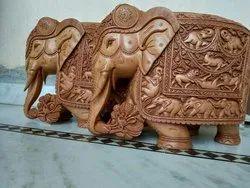 Deep Shikar Work Wooden Elephant