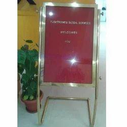 Brass welcome Board