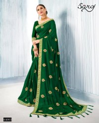 Green Color Fancy Silk Saree