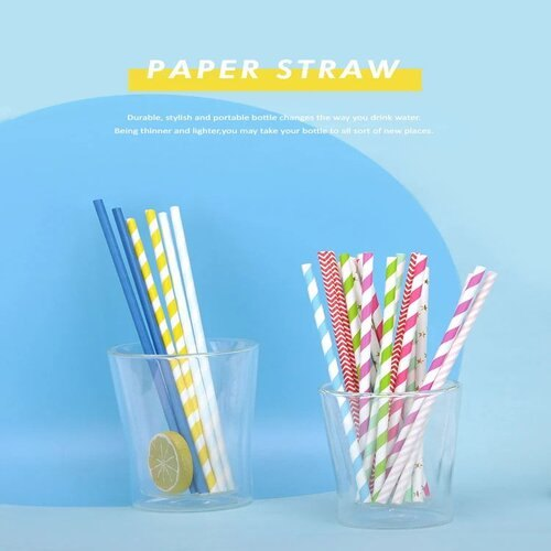 6 mm Coloured Paper Straws