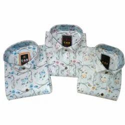 Men's Fashionable Cotton Shirt, Packaging: Box