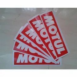White Vinyl Adhesive Stickers, Packaging Type: Packet