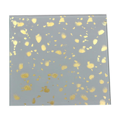Designer Grey & Yellow Lacquered Glass