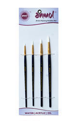 Artist Painting Brush Fine Synthetic Brush-Series-10(Set of 4 Round)