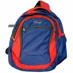 Polyester Plain Kids School Backpack