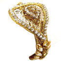 Brass Bangles Leaf Kundan