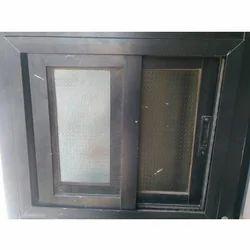 Brown Aluminium Window, Size/Dimension: Square