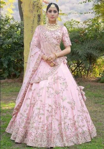 509655b69382 Indian Ethnic Designer Silk Embroidered Bridal Wear Lehenga Choli at ...