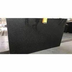 Black Galaxy Granite Slab, Thickness: 15 mm