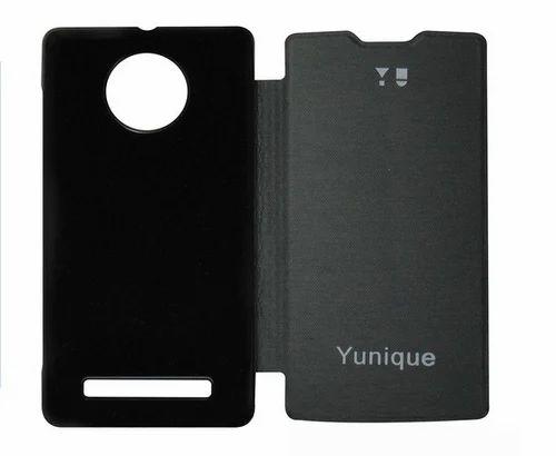 best service 27be0 7808f Flip Cover For Micromax Yunique Yu5050 Black
