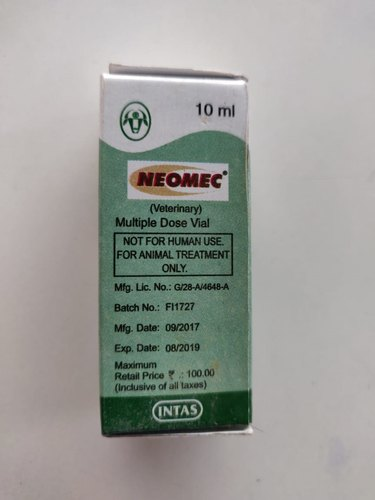 Ivermectin 10 Ml NEOMEC INJECTION, for Personal ...