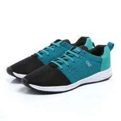 Mens Sea Green Black Synthetic Walking Shoes