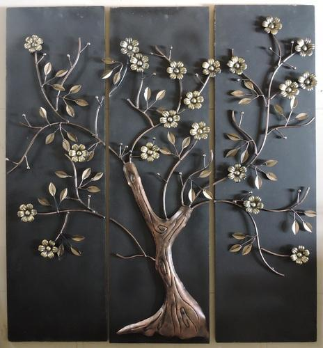 921e71ef8b Black And Golden Isha Art Decorative Metal Tree Design Wall Decor, Size:  40x44 Inches
