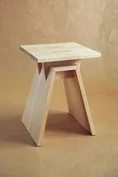 Tulsi arts Natural Wooden stool