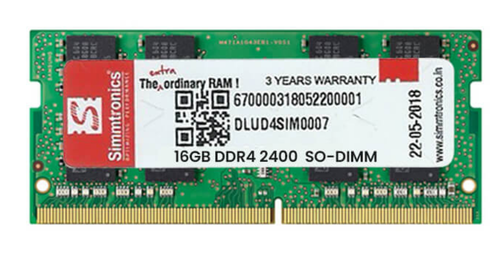 Simmtronics 16 GB DDR4 Laptop RAM 2400 MHz