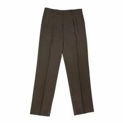 Plain Cotton Grey School Boy Trousers